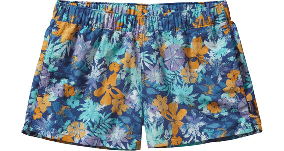Patagonia W's Barely Baggies Shorts Neo Tropics: Channel Blue